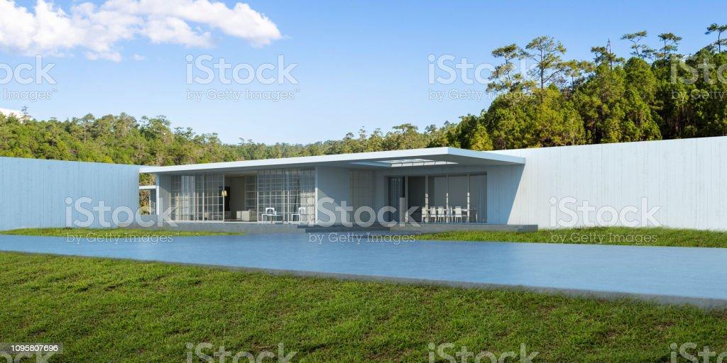 House Yard Wall Design