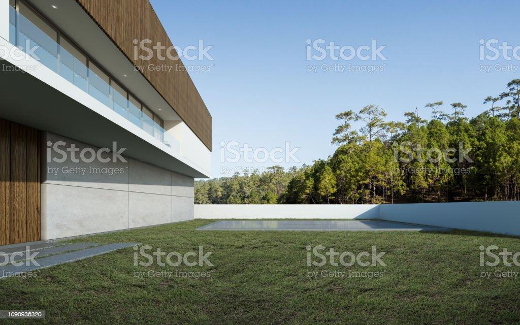 Photo libre de droit de Point De Vue De La Maison Moderne De ...