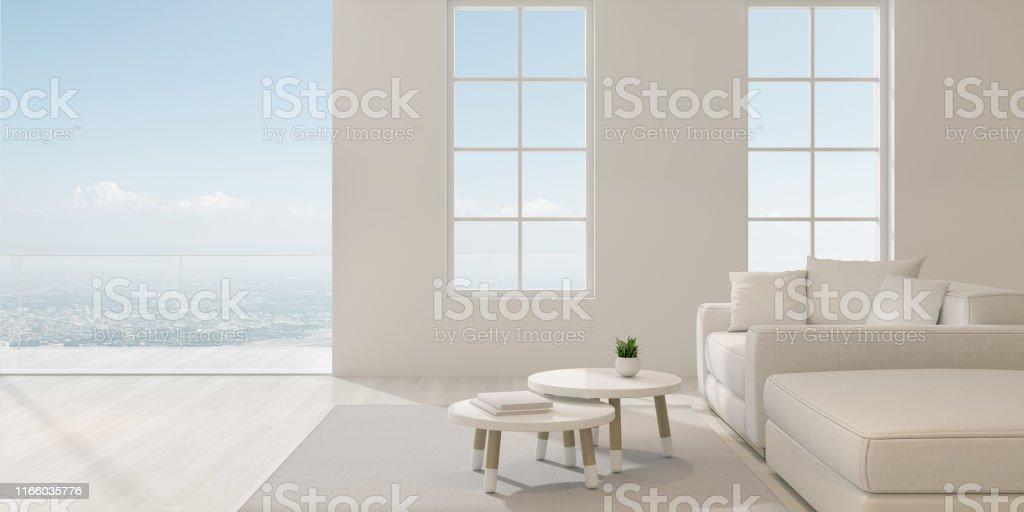 Perspektive Des Modernen Luxuswohnzimmermits Mit Weißem Sofa ...