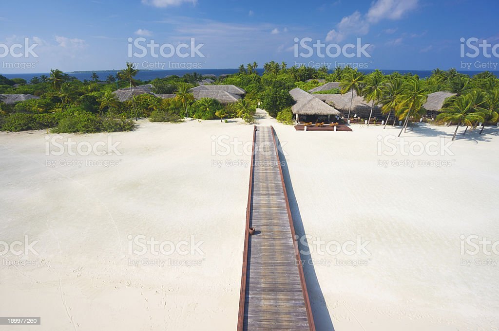 perspective tropical island resort royalty-free stock photo