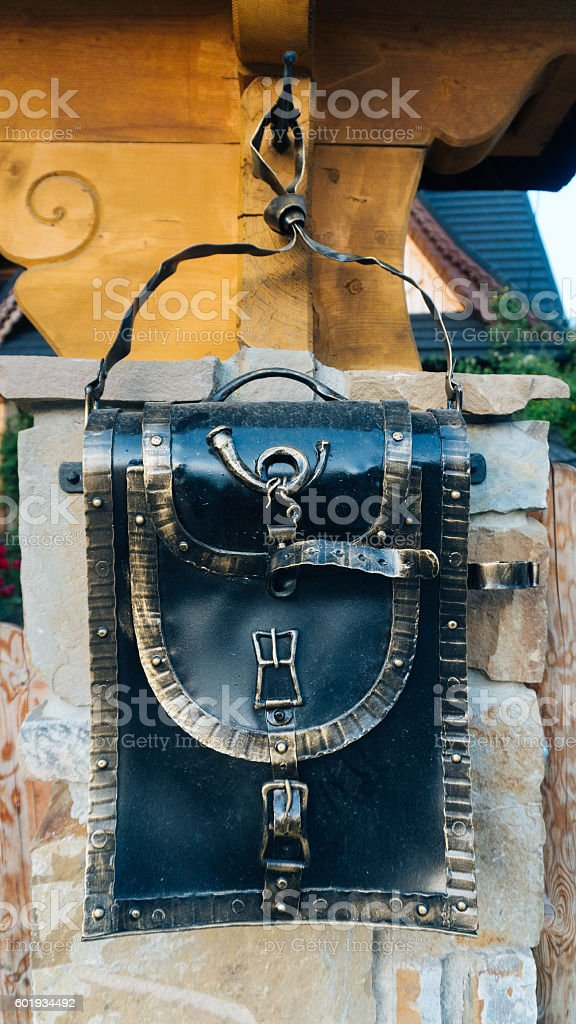 Perspective View of an Mailbox stock photo