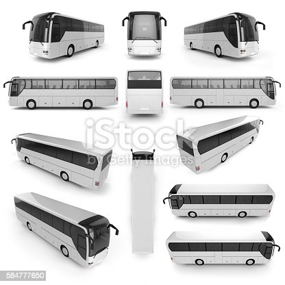 istock 12 perspective view of City bus 584777650