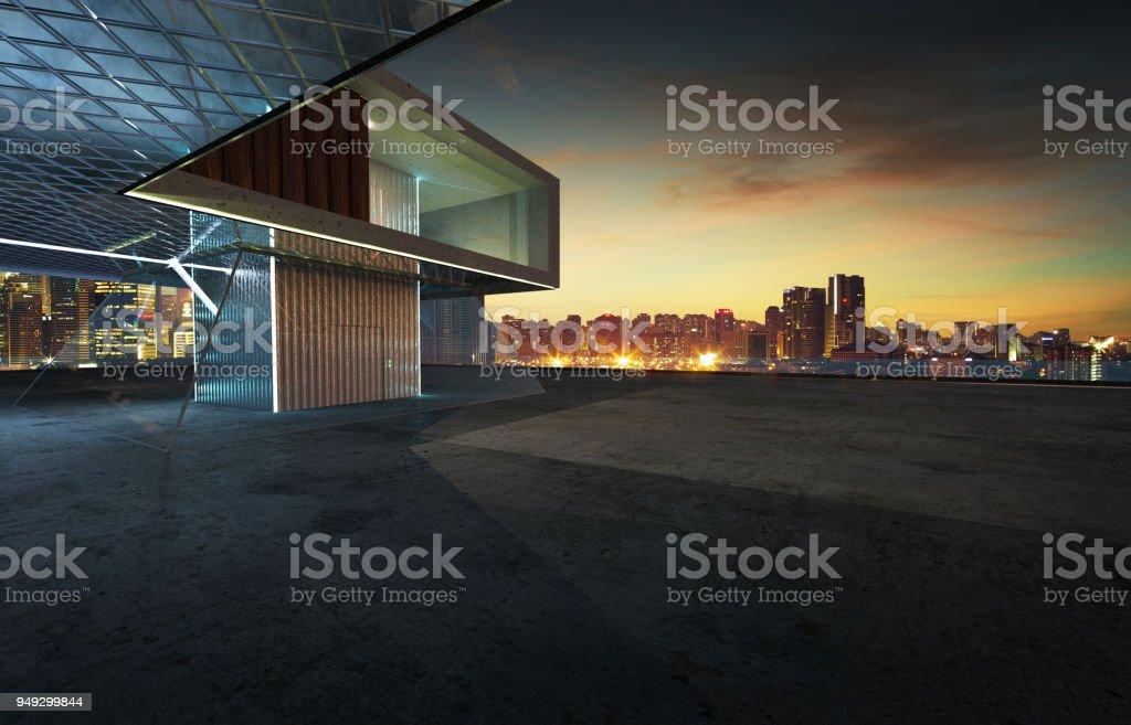 Perspectiva de fachada contemporánea foto de stock libre de derechos