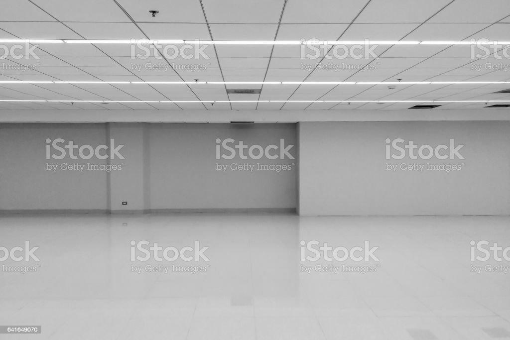 Vue En Perspective Du Vide Espace Monotone Noir Blanc Bureau Chambre ...