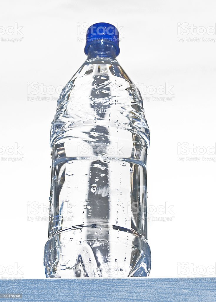 perspective water bottle royalty-free stock photo