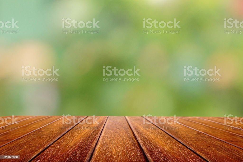Royalty Free Perspective Wood Table And Nature Spring Background