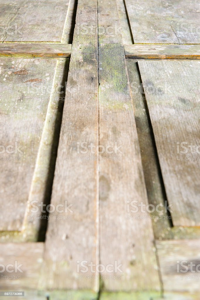 Perspective wooden plank royalty-free stock photo