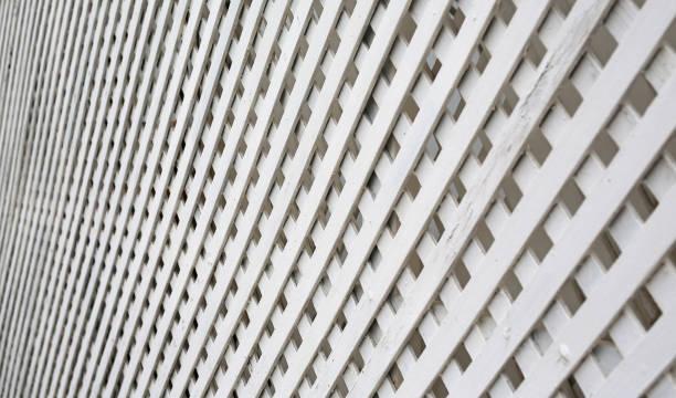 Valla de madera armadura de perspectiva. - foto de stock