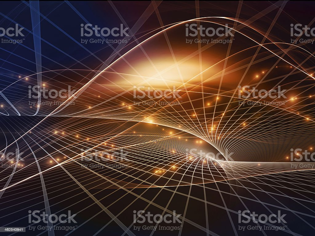 Perspectives of Fractal Realms stock photo