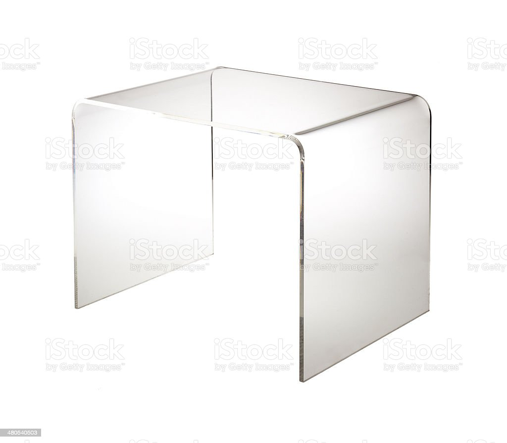 Perspex table stock photo