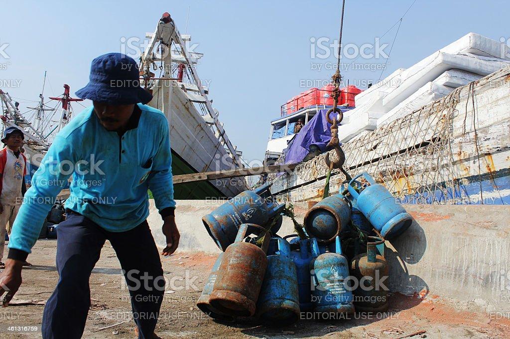 Pertamina set a new price of LPG stock photo