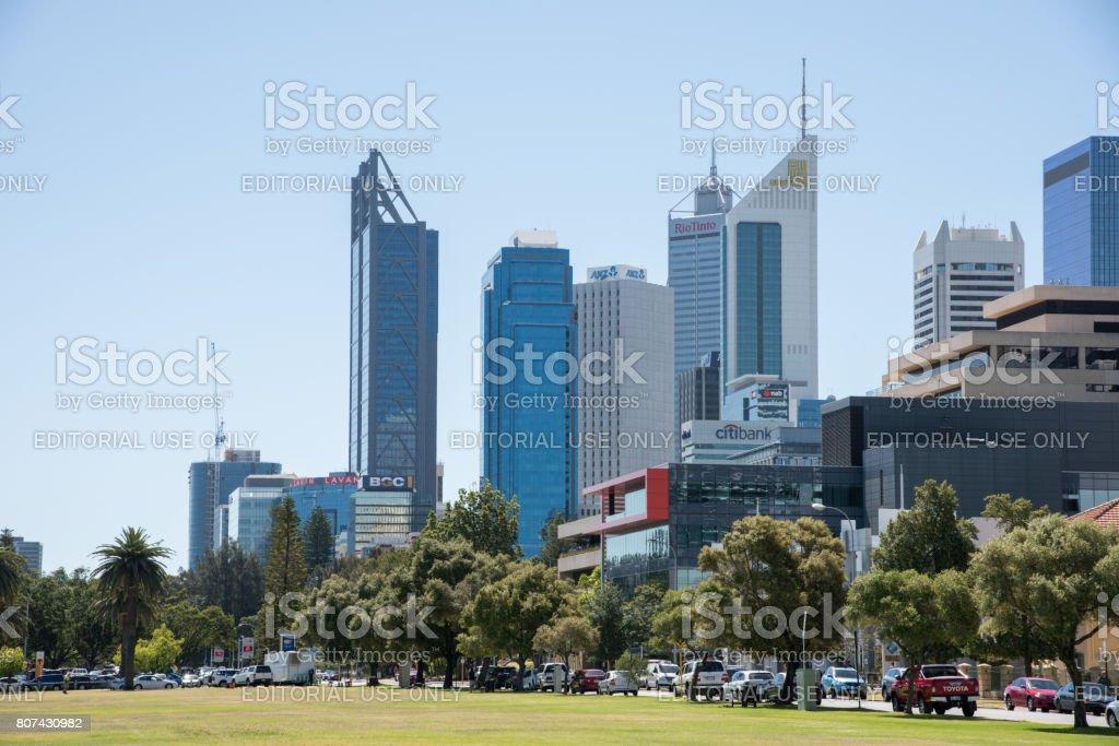Perth CBD stock photo