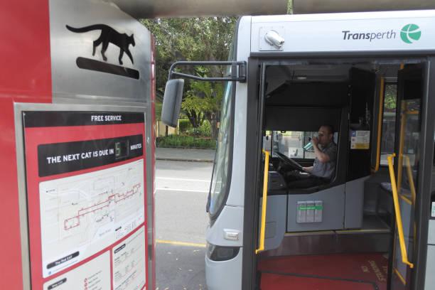 Perth Central Area Transit in Perth Western Australia stock photo