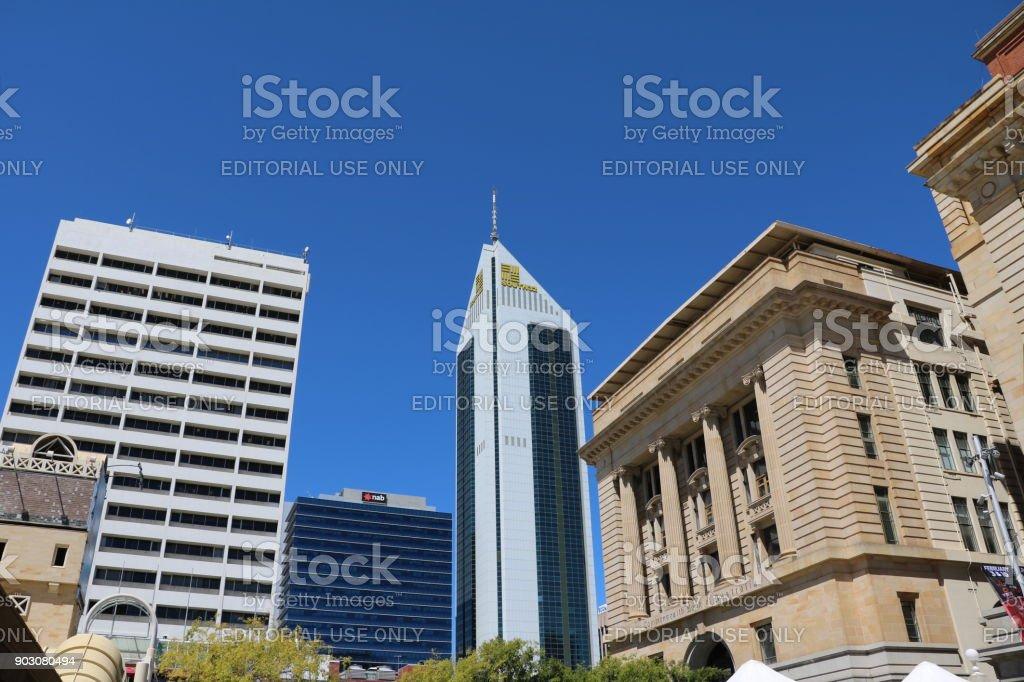 Perth city in Western Australia stock photo