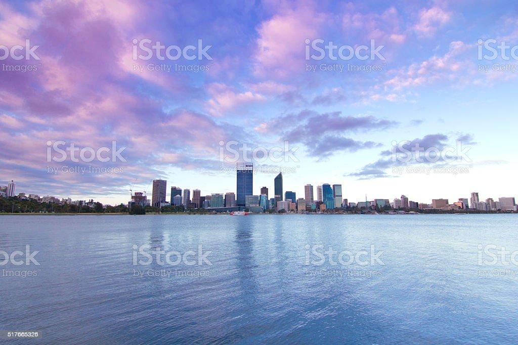 Perth City Lights, Western Australia, Australia stock photo