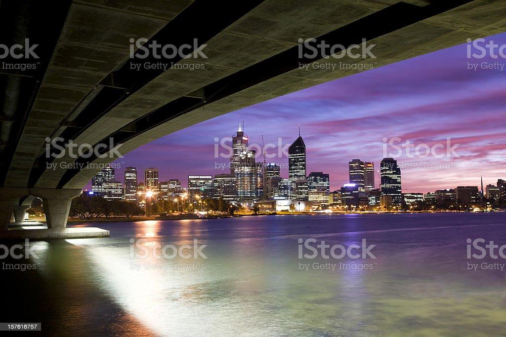 Perth City View stock photo
