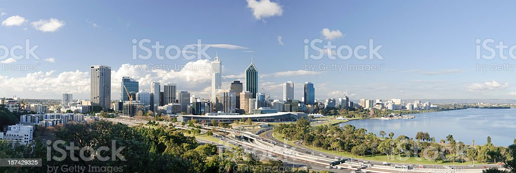 Perth Cityscape Panorama stock photo