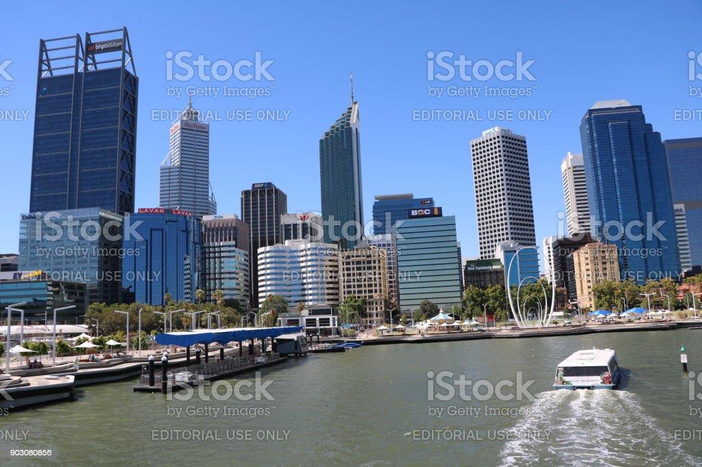 Perth Elizabeth Quay in Western Australia stock photo