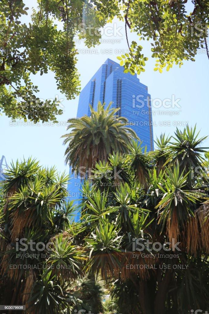 Perth finance centre, Western Australia stock photo
