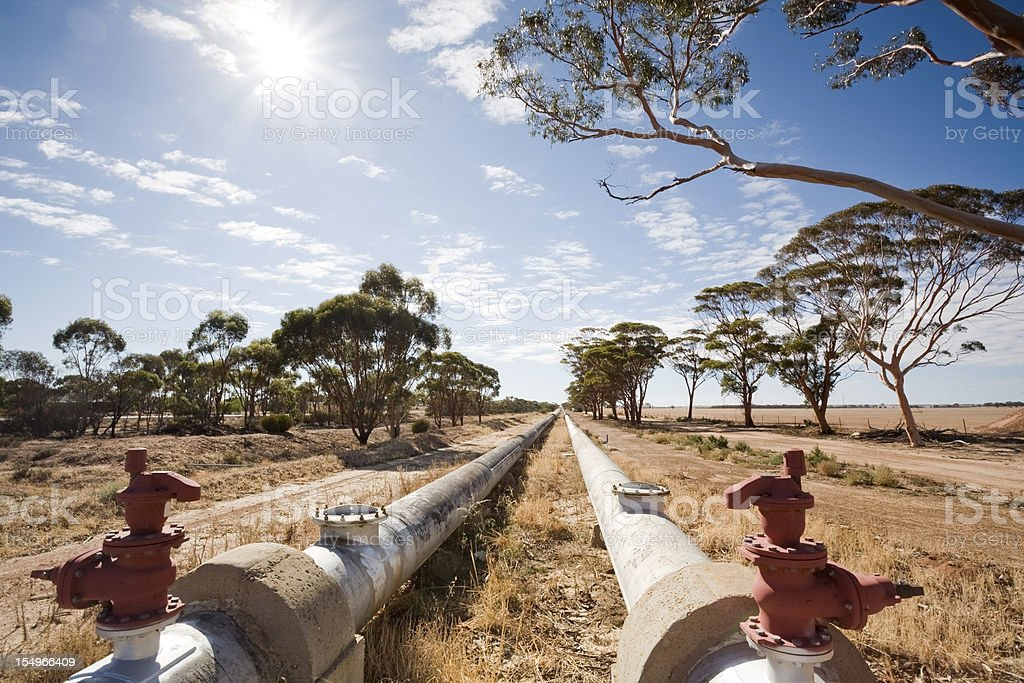 Perth Kalgoorlie Pipeline stock photo