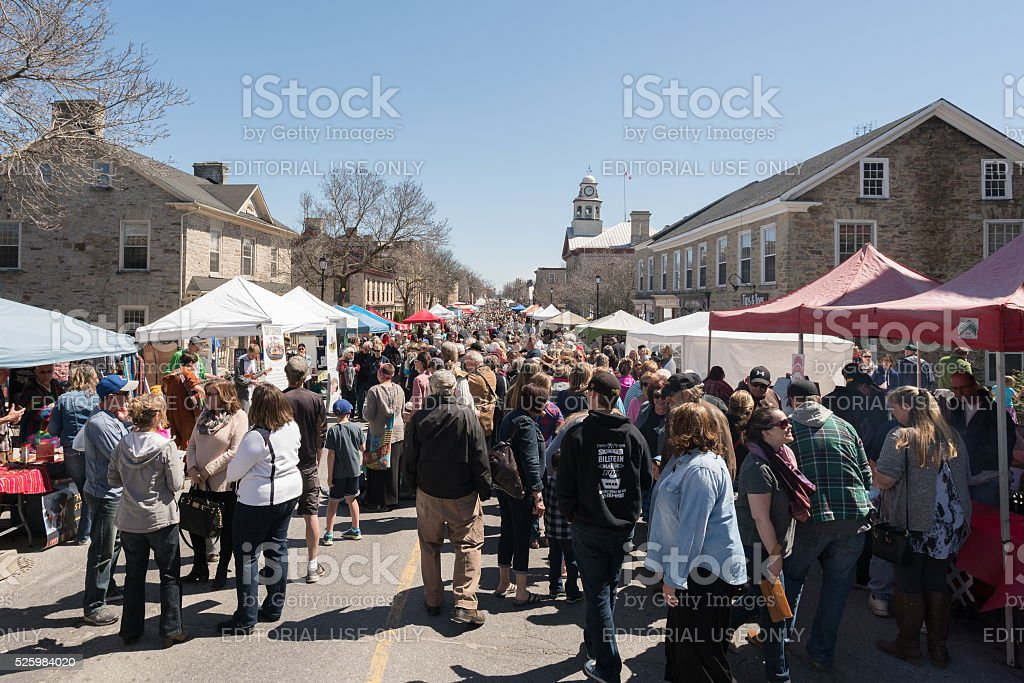 Perth of Ontario celebrates 40th annual festival of the maples stock photo