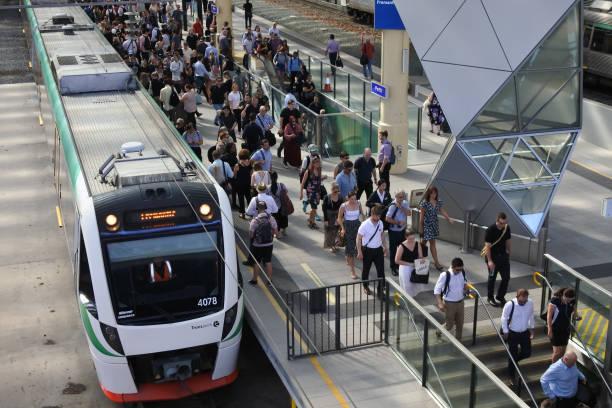 Perth railway station stock photo