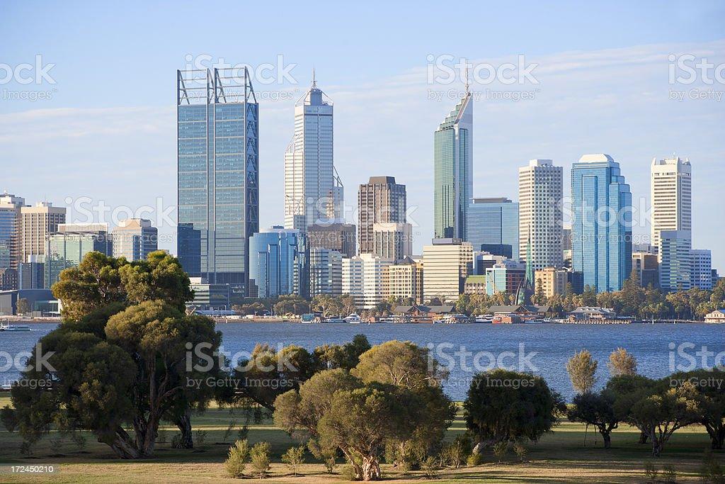 Perth skyline stock photo