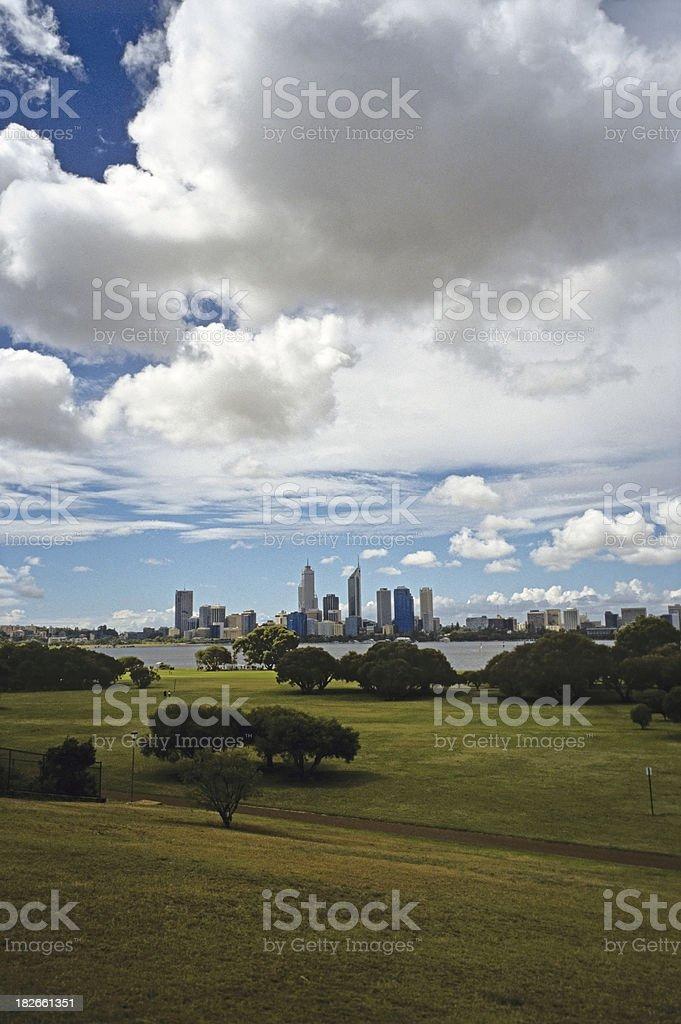 Perth Skyline Western Australia royalty-free stock photo