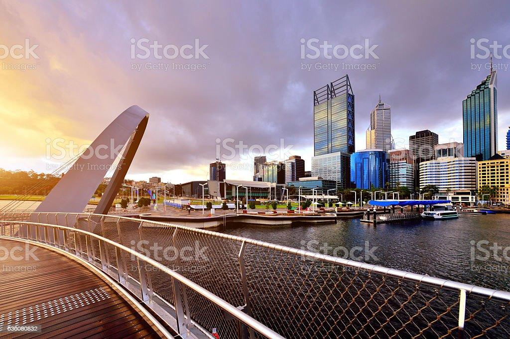 Perth Skyline, Western Australia stock photo