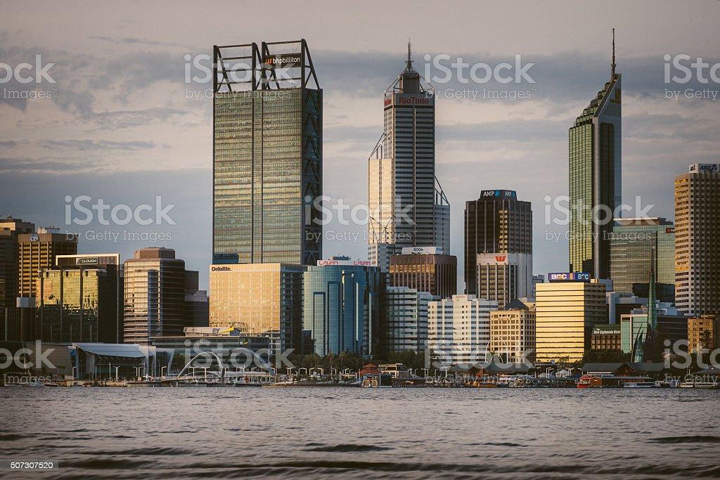 Perth skyscraper stock photo