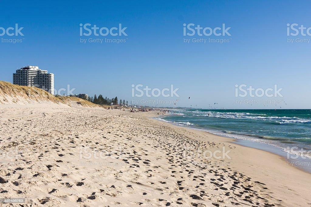 Perth's Scarborough Beach in Western Australia stock photo