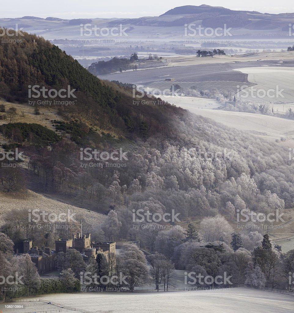 Perthshire winter  landscape. stock photo