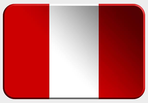 Perú botón 3D sobre fondo blanco - foto de stock