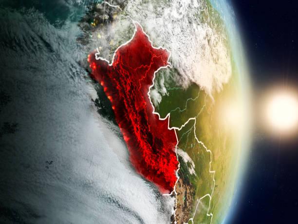 Perú durante el amanecer - foto de stock