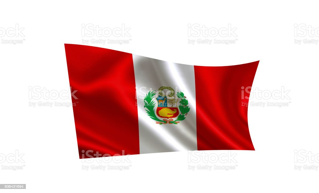 Peru flag. A series of flags of the world. stock photo