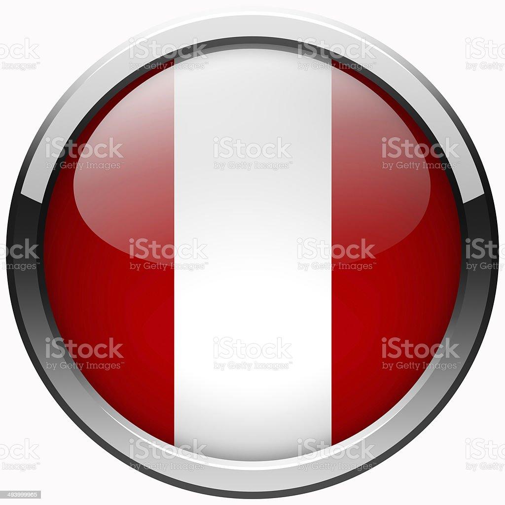 peru flag gel metal button stock photo