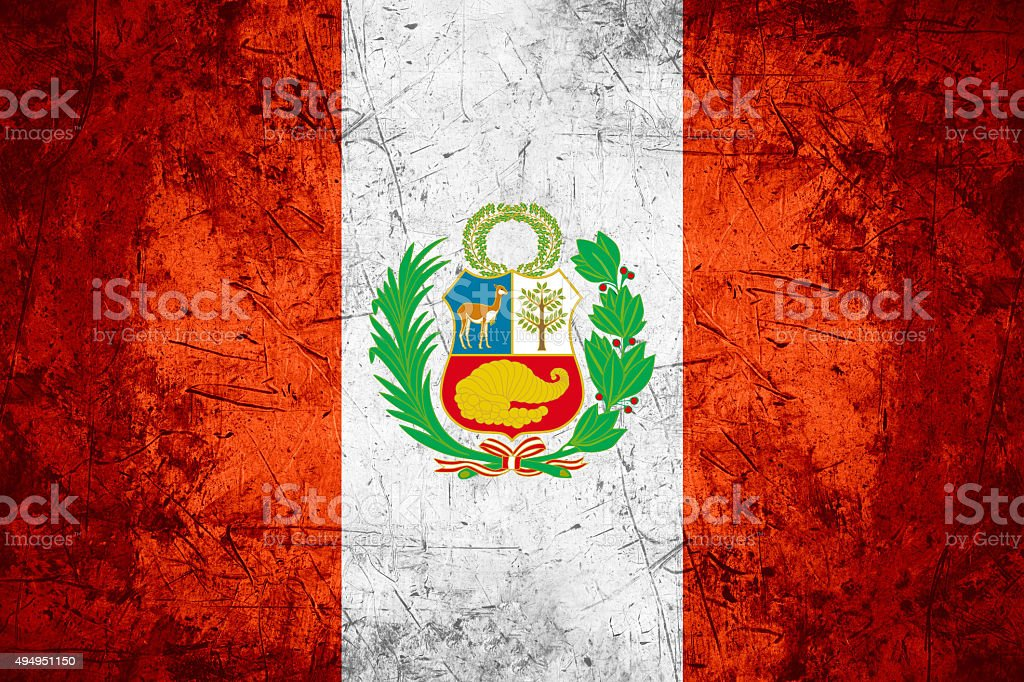 Peru flag stock photo