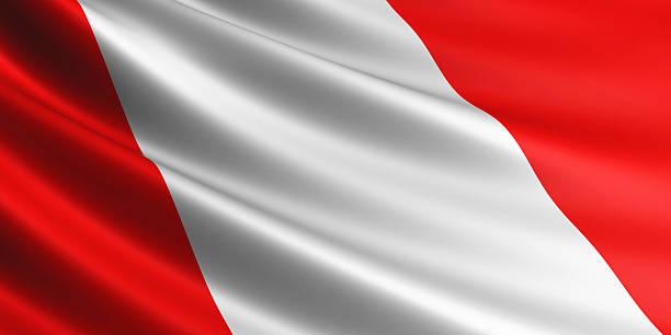 Bandera de Perú. - foto de stock