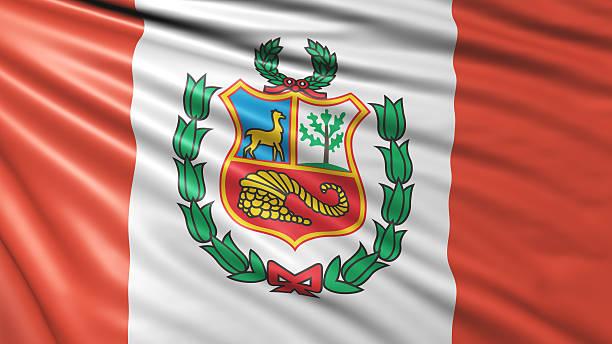 Bandera de Perú  - foto de stock