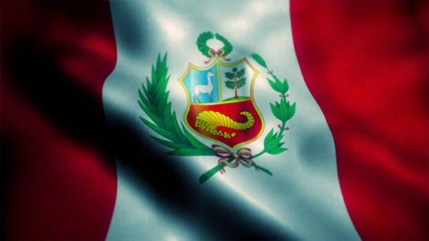 ペルー国旗 - タキーレ島 ストックフォトと画像