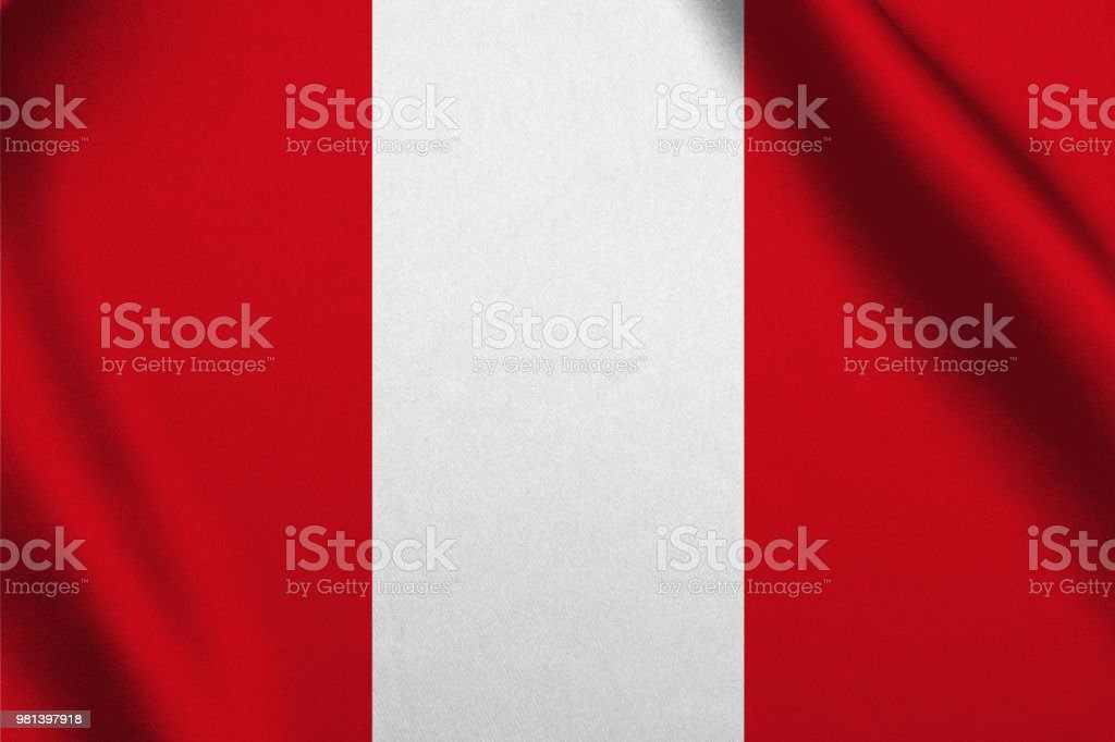 Peru flag waving background stock photo
