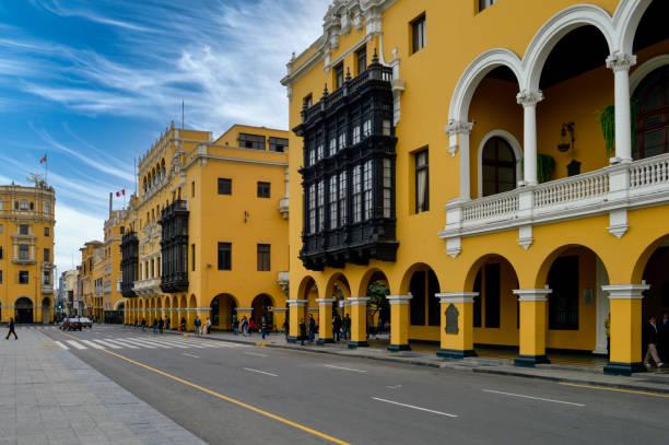 Peru Lima cityscape stock photo