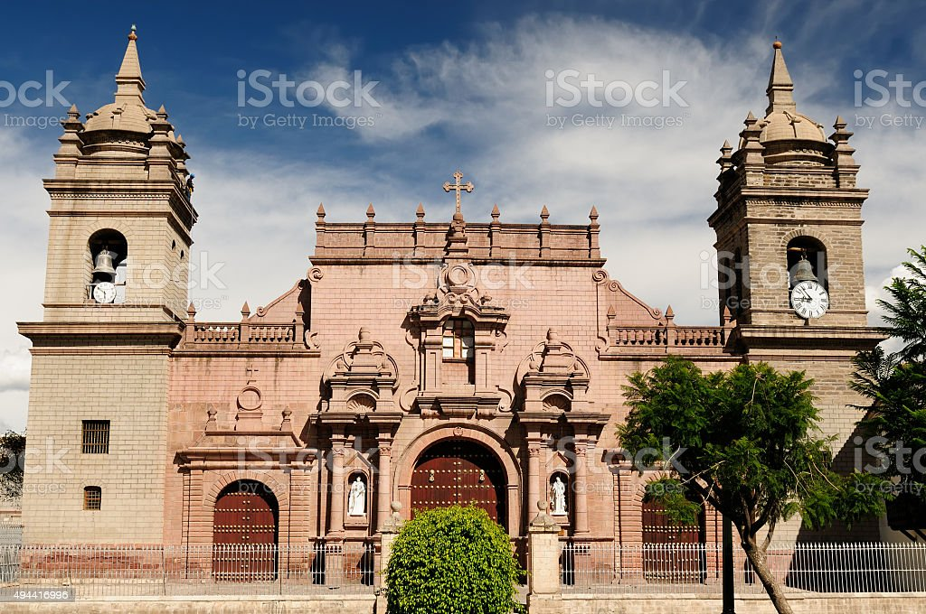 Peru, Plaza de Armas in Ayacucho, stock photo