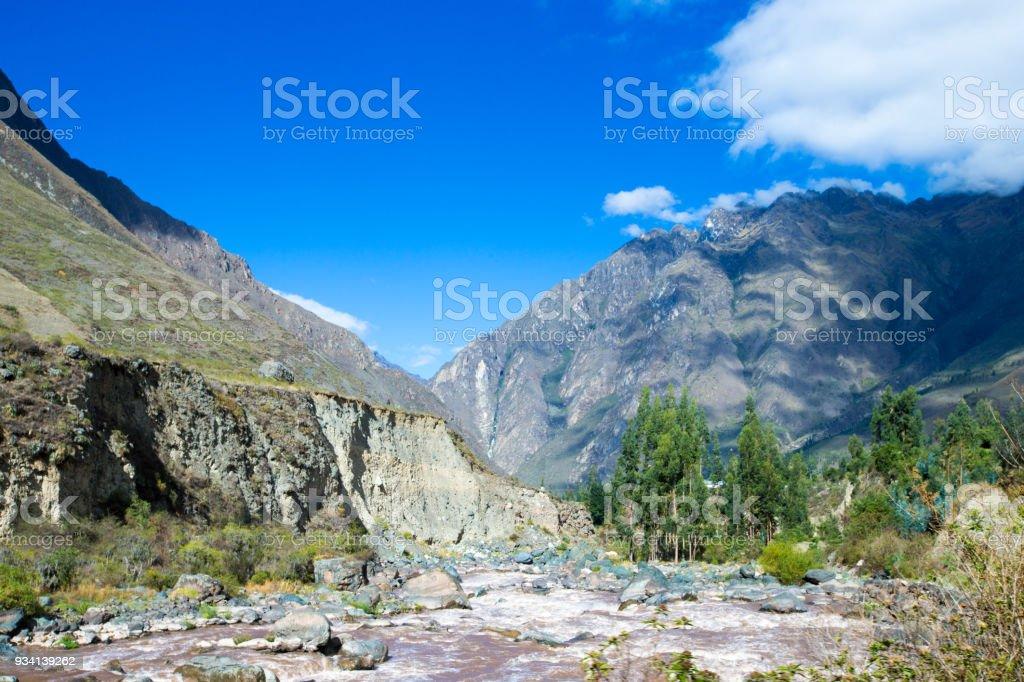 Peru Rail from Cuzco to Machu Picchu (Peru) stock photo
