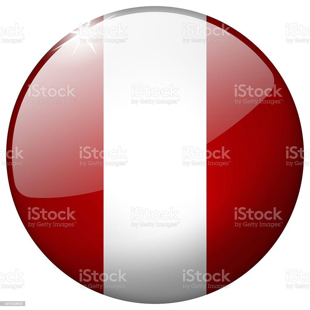 Peru Round Glass Button stock photo