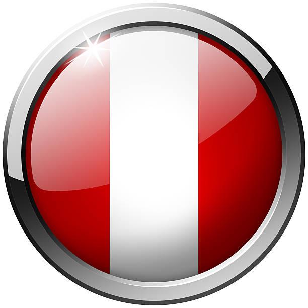 Peru Round Metal Glass Button stock photo