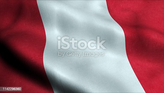 istock Peru Waving Flag in 3D 1142296360