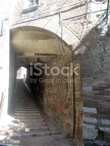 perugia - little street in the old town