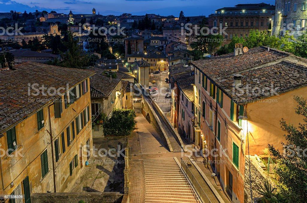 Perugia Via Appia (Acquedotto) stock photo