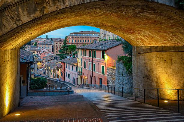 Perugia Via dell Acquedotto Perugia Via dell Acquedotto umbria stock pictures, royalty-free photos & images
